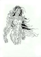 Witchblade pencil/ink by ddcobbs