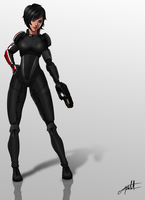 Female Shepard Fan Art. by Meteorito-Mastretta