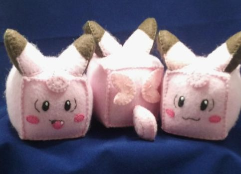 Pokecubes: Clefairy by beanchan