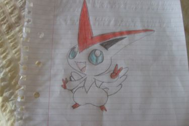 Shiny Victini Freehand by I-Am-Dark-Link