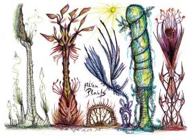 Alien plants by MickMcDee
