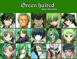 Green haired anime characters by jonatan7