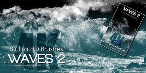 Shades WAVES 2 ULTRA HD BRUSHES for Photoshop by shadedancer619