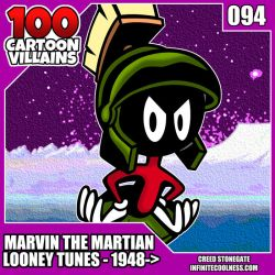 100 Cartoon Villains - 094 - Marvin The Martian! by CreedStonegate