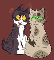 Brokenstripe And Flintsky by cannedplants