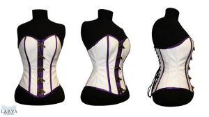 For SALE - White Steam Corset Front by Larva by Eisfluegel