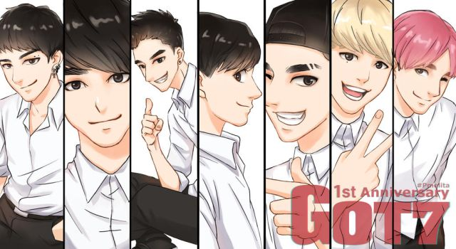 1st Anniversary Got7 by Pmolita