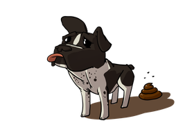 Doggy Pooping - Fiverr Commission by etchant