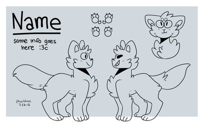 Reference Sheet : YCH or P2U BASE ! by coldioc