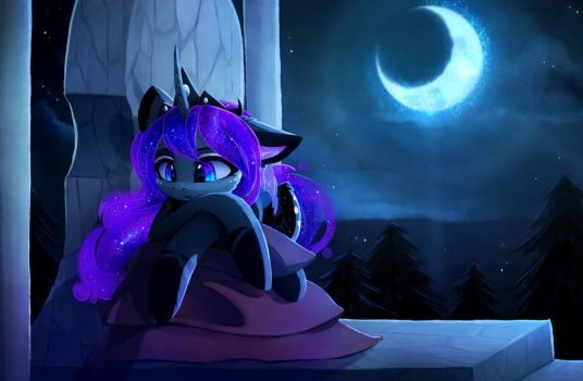 Lonely night by MagnaLuna