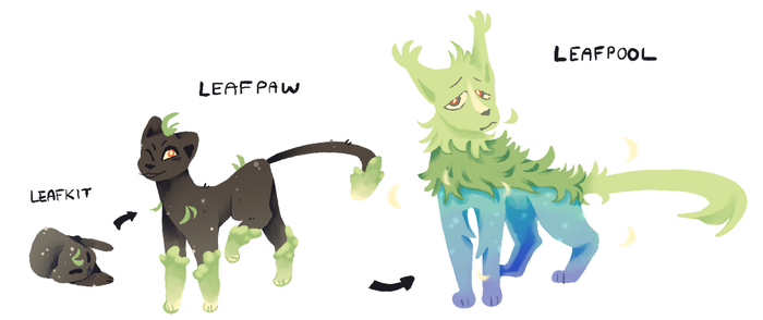 leafpool evolution line by vkyw