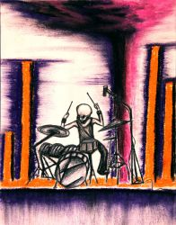 AP Studio Art 2014: Concentration 5 (Rock Drummer) by Skanday
