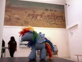 Rainbow Dash at the Museum of Natural History by penniavaswen
