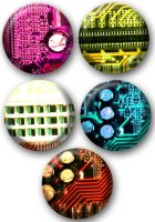 Computer Guts buttons by e-tahn
