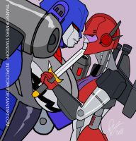 Transformers Cybertron Standoff by Inspector97