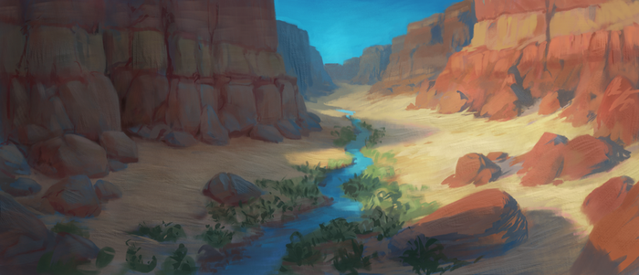 Down the Canyon by Mandilor