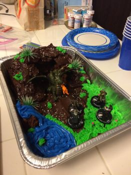Dungeons and Dragons Cake by Son-Neko
