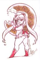 InkTober 05 - Sailor Chubby Moon by bewareitbites