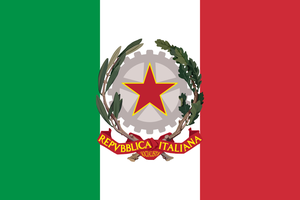 Flag of the Socialist Republic of Italy by Linumhortulanus