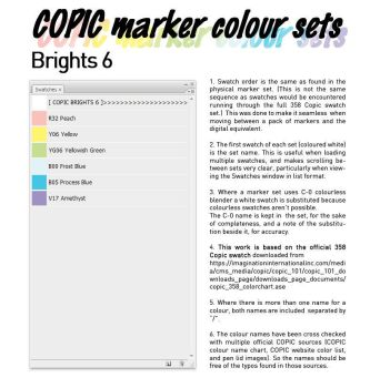 COPIC marker colour set - Brights 6 by d-signer
