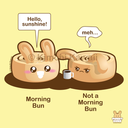 Morning Bun Pun by kimchikawaii