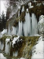 Frozen waterfall by BabusAnna