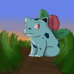 Pokemon No. 002: Ivysaur by Nefepants