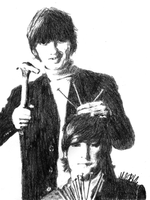 John and George by MelielBLACK