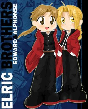 Elric Brothers by crystalmoonkiss