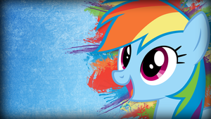 Grunge Rainbow Dash Wallpaper by TwopennyPenguin