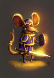 warrior mouse by Jeyfro