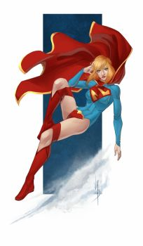 Drink and Draw Supergirl by VonHollde