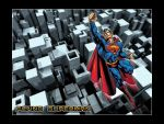 Flying Superman by lasaucisse