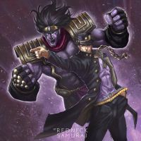 Kujo Jotaro with Star Platinum by RedneckSamura1