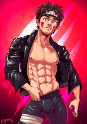 Shirtless Ninja: Inuzuka Kiba by goyong