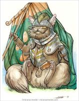Medieval Cat Series - #3 The Flag Bearer by mirana