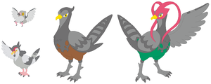 Pidove, Tranquill and Unfezant Base