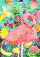 Fruity Flamingo by DasFarbspiel