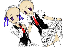 two maids, original base by edwardelricatw