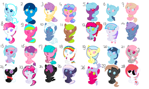 adoptables 1 point each CLOSED by Pegasister15
