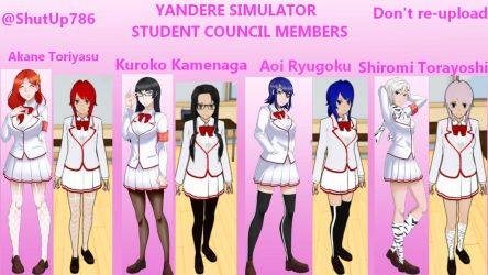 Student Council Members Skin Pack by ShutUp786