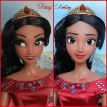 Disney's Elena of Avalor OOAK Doll Repaint by DaisyDaling