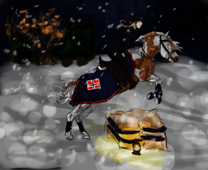 Festival of Winter-Lights Cross Country by FluffyPinkHorses