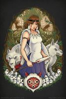 Princess Mononoke - Guardian of the Forest by TrulyEpic
