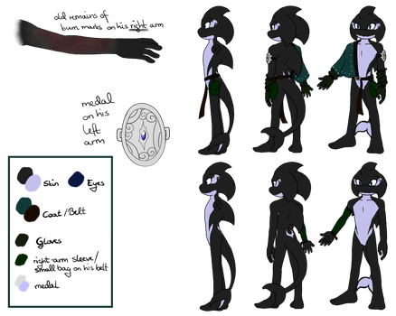 Aaron the Orca_Reference sheet by missyDischa