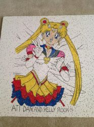 Eternal Sailor Moon ceiling tile for ATI by KittieKitsuneko
