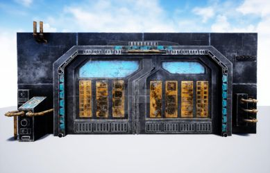 3D Sci-Fi Blast Door by Hero-of-Awesome