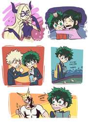 Drawings from Episode 1 | BnHA by Greimz