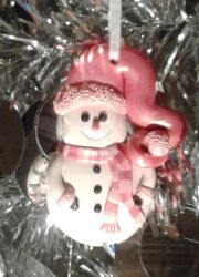 Handcrafted One of a Kind Snowman Ornament by Valtira