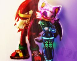 Knuckles and Rouge Concept by ZekukN